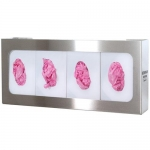 Bowman Dispensers GS-060, Glove Box Dispenser, Quad, Stainless Steel