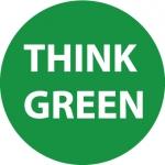 "NMC HH101, Vinyl Hard Hat Emblem ""Think Green"""