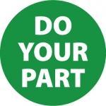 """NMC HH103, Vinyl Hard Hat Emblem """"Do Your Part"""""""