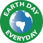 """NMC HH104, Hard Hat Emblem """"Earth Day Every Day"""""""