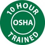 "NMC HH107, Hard Hat Emblem ""10 Hour Osha Trained"""