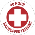 "NMC HH108, Hard Hat Emblem ""40 Hour Hazwoper…"""