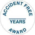 "NMC HH111, Hard Hat Emblem ""Accident Free & …"""
