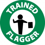 "NMC HH112, Hard Hat Emblem ""Trained Flagger"""