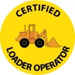 """NMC HH113, Hard Hat Emblem """"Certified Loader …"""""""
