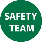 "NMC HH119, Vinyl Hard Hat Emblem ""Safety Team"""