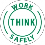 "NMC HH12, Hard Hat Emblem ""Work Think Safely"""