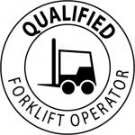 """NMC HH17, Hard Hat Emblem """"Qualified Forklift …"""""""