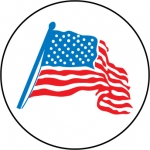 "NMC HH21, Hard Hat Emblem ""American Flag Graphic"""