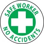 """NMC HH27, Hard Hat Emblem """"Safe Worker No …"""""""