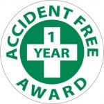 "NMC HH31, Hard Hat Emblem ""Accident Free 1 Yea…"""