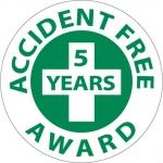 "NMC HH32, Hard Hat Emblem ""Accident Free 5…"""