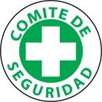 "NMC HH37, Hard Hat Emblem ""Comitede Serguridad"""