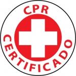 "NMC HH39, Hard Hat Emblem ""CPR Certificado"""