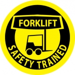 """NMC HH42, Hard Hat Label """"Forklift Safety Trained"""""""