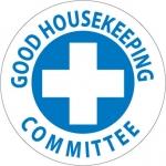 "NMC HH43, Hard Hat Emblem ""Good Housekeeping…"""