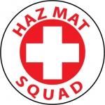"NMC HH44, Hard Hat Emblem ""Hazmat Squad"""