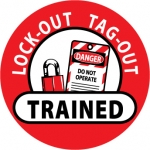 """NMC HH47, Hard Hat Emblem """"Lock-Out Tag-Out …"""""""