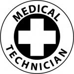 "NMC HH49, Hard Hat Emblem ""Medical Technician"""