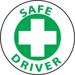 "NMC HH52, Vinyl Hard Hat Emblem ""Safe Driver"""