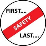 "NMC HH56, Hard Hat Emblem ""First…Safety…Last"""