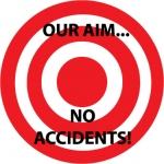 "NMC HH57, Hard Hat Emblem ""Our Aim No Accidents"""