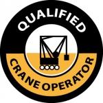"NMC HH58, Hard Hat Emblem ""Qualified Crane …"""