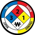 """NMC HH59, Hard Hat Emblem """"Right To Know …"""""""
