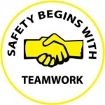 "NMC HH60, Hard Hat Emblem ""Safety Begins With …"""