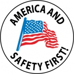 """NMC HH61, Vinyl Label """"America and Safety First"""""""