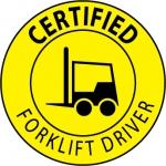 "NMC HH66, Vinyl Label ""Certified Forklift Driver"""