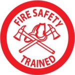 """NMC HH72, Hard Hat Emblem """"Fire Safety Trained"""""""