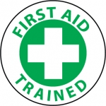 """NMC HH73, Hard Hat Emblem """"First Aid Trained"""""""