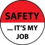 "NMC HH77, Hard Hat Emblem ""Safety It'S Your Job"""