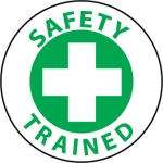 "NMC HH81, Hard Hat Emblem ""Safety Trained"""