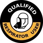"NMC HH86, Hard Hat Emblem ""Qualified Respir…"""