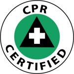 "NMC HH88, Vinyl Hard Hat Emblem ""CPR Certified"""