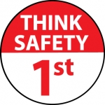 "NMC HH89, Hard Hat Emblem ""Think Safety 1St"""