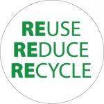 "NMC HH99, Hard Hat Emblem ""Reduce Reuse Recycle"""