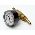 Fischer Technical Company HVG-002, In-Line Vacuum Gauge w/ Hose Barbs