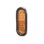 North American Signal Company LEDQO-A, Amber Oval Quad Flash LED Head