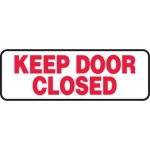 """Accuform MABR501XT10, Safety Sign """"Keep Door Closed"""" Dura-Plastic"""
