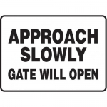 "Accuform MABR502XF, Safety Sign ""Approach Slowly – Gate Will Open"""