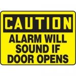 "Accuform MABR604XL10, OSHA Caution Safety Sign ""Alarm Will Sound…"""