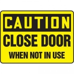 """Accuform MABR608XL10, Caution Safety Sign """"Close Door When Not In Use"""""""
