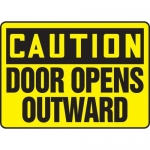 """Accuform MABR626XL10, OSHA Caution Safety Sign """"Door Opens Outward"""""""