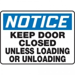 """Accuform MABR806XL, OSHA Notice Safety Sign """"Keep Door Closed…"""""""