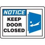 """Accuform MABR812XL10, OSHA Notice Safety Sign """"Keep Door Closed"""""""