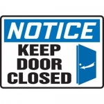 """Accuform MABR846XT10, OSHA Notice Safety Sign """"Keep Door Closed"""""""