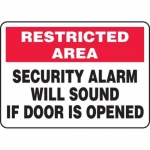 """Accuform MABR903XL10, Safety Sign """"Security Alarm Will Sound…"""""""